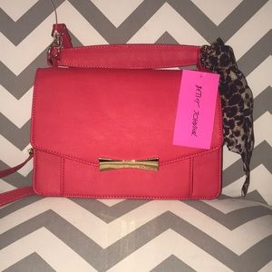 Red Betsy Johnson satchel NWT